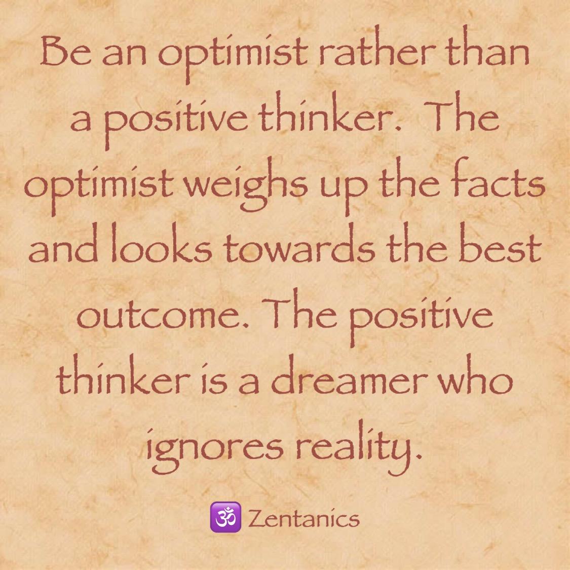 """""""Positiv denken"""" hilft wenig"""